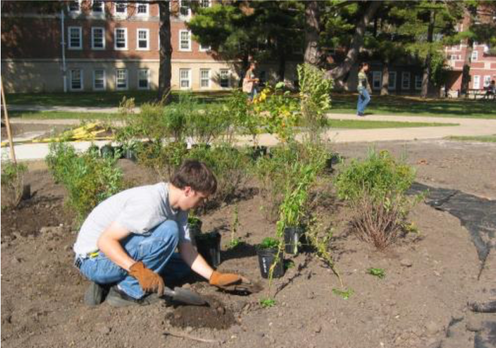 Student planting (Fall 2006)